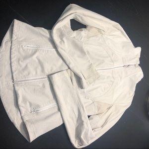 Lululemon jacket in white size 10